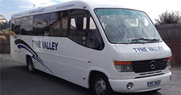 Tyne Valley Coaches, Hexham - Mercedes 28 seater Midi Coach for hire